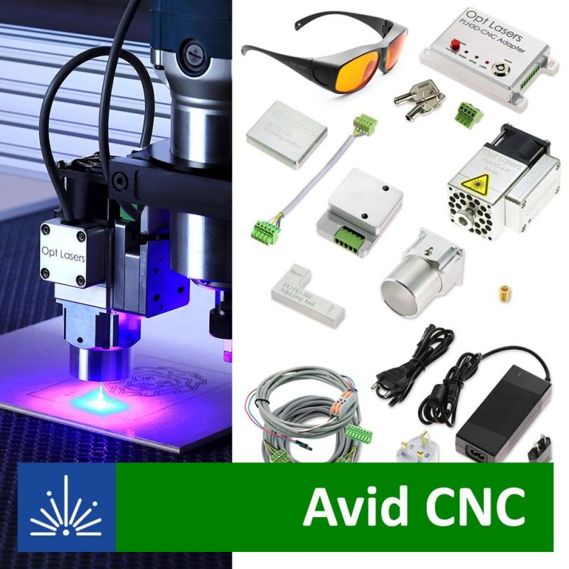 CNC Router Parts Laser Upgrade with PLH3D-6W-XF Laser Head