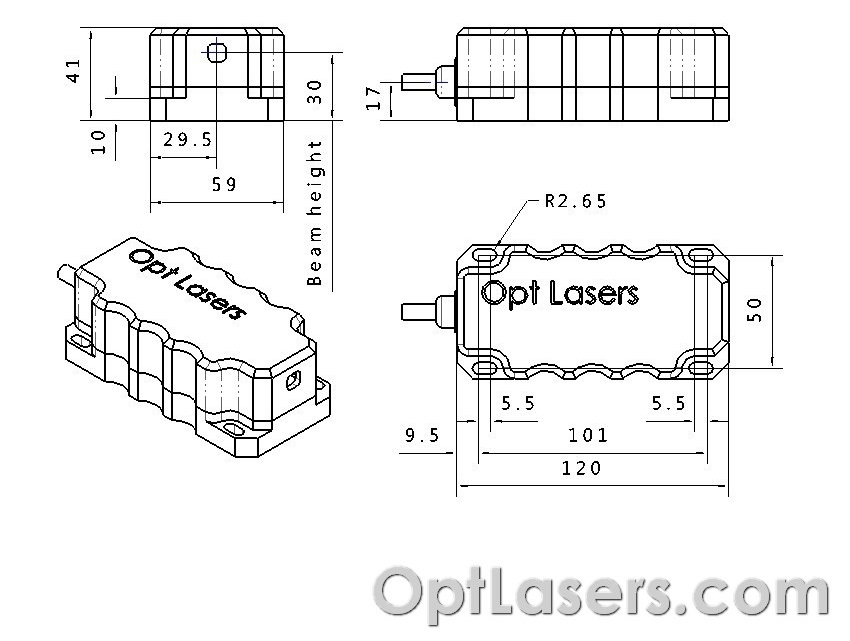 technical diagram of the laser module