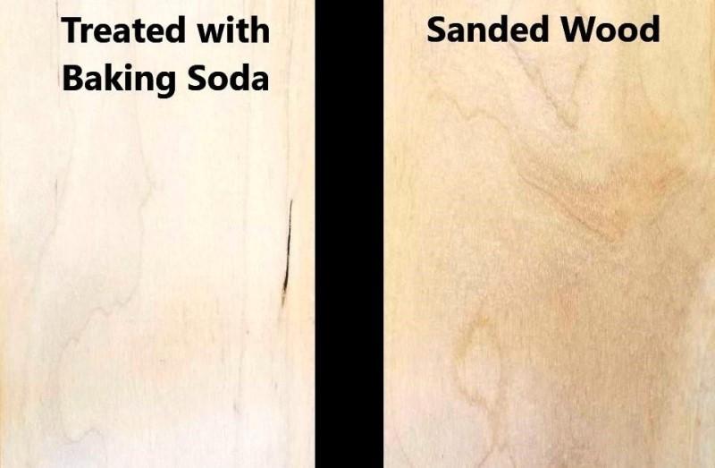 Baking Soda Treated Wood Engraving