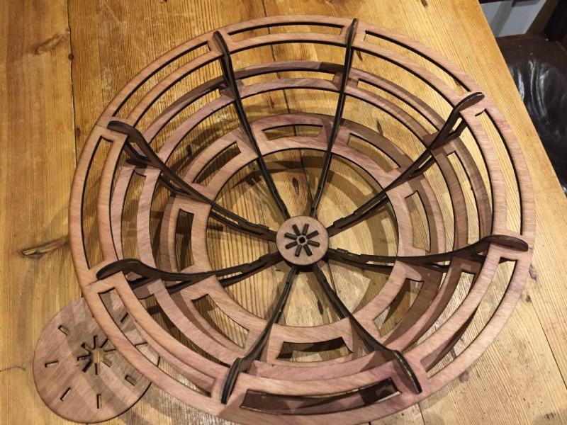 Assembled Laser Cut Wooden Bowl