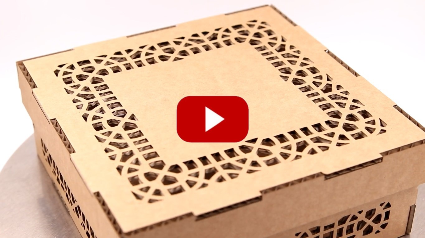 Laser Engraving and Laser Cutting Corrugated Cardboard with High-Pressure Air Assist Nozzle