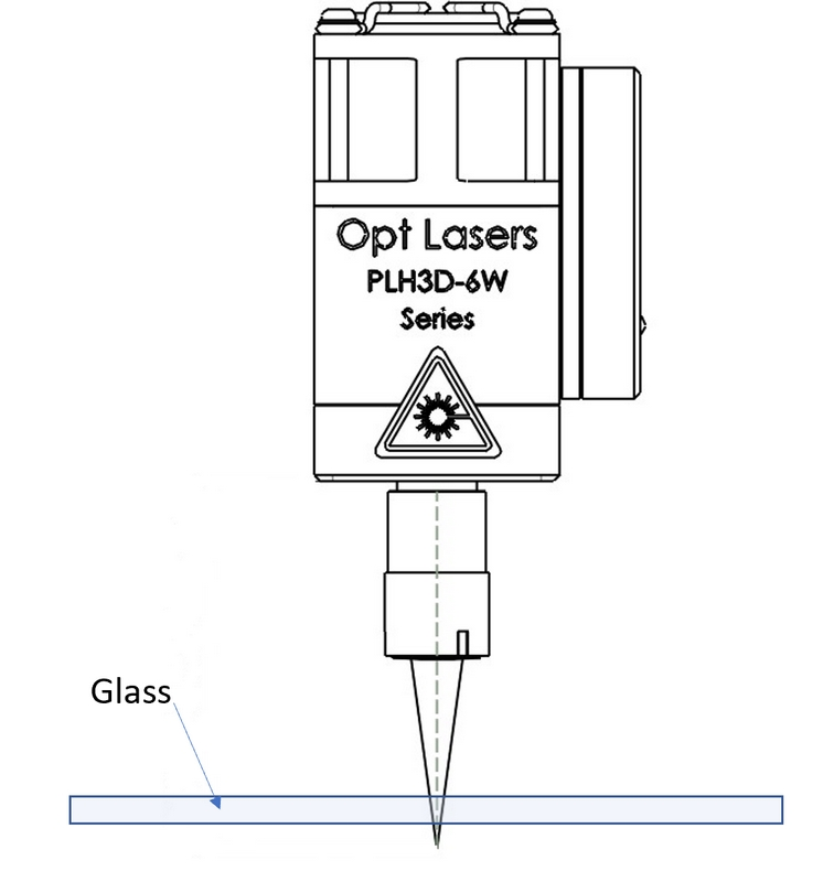 Laser Propagating Through Glass