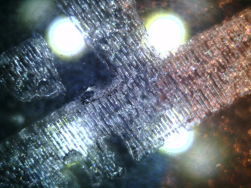 Laser Engraving Glass under USB Camera Microscope