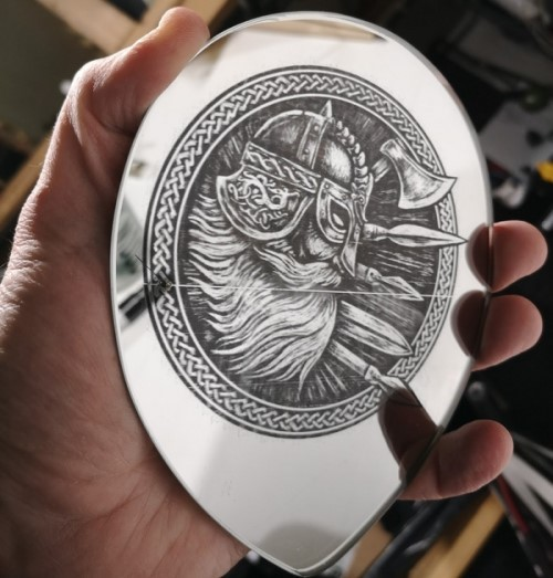 The Mirror Viking - Smart Engraving Laser Project