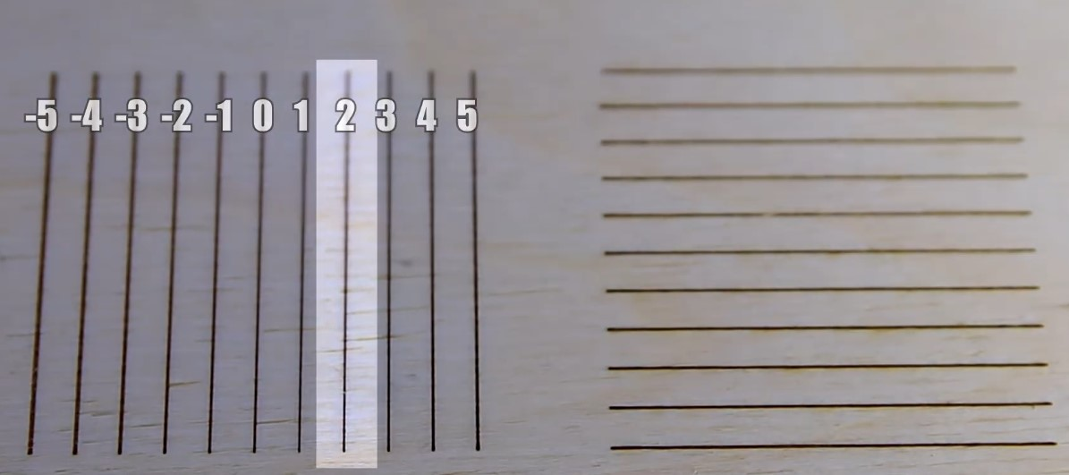 Selecting engraved lines on wood