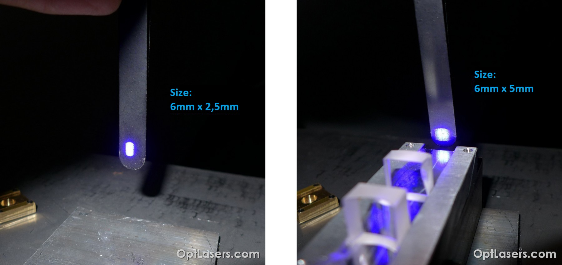 cylindrical lenses for a CNC laser