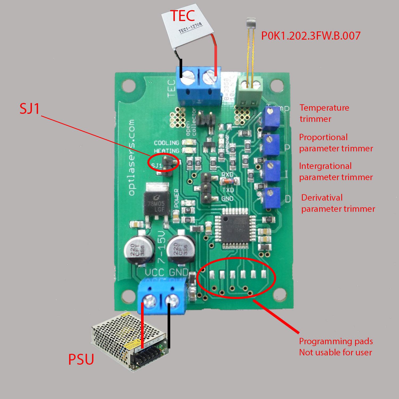 TEC-8A-24V-PID-HC-RS232 Programmable Temperature Controller - 1